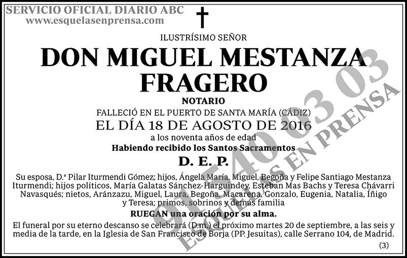 Miguel Mestanza Fragero